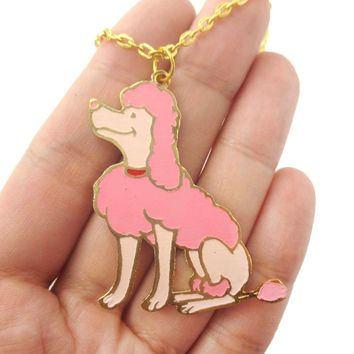 French Poodle Puppy Dog Shaped Animal Pendant Necklace | Limited Edition