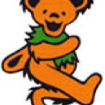 Grateful Dead - Orange Dancing Bear Sticker