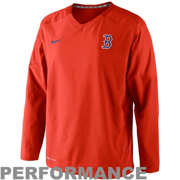 Nike Boston Red Sox MB Staff Ace 2.0 Performance Pullover Jacket - Red - http://www.shareasale.com/m-pr.cfm?merchantID=7124&userID=1042934&productID=528468720 / Boston Red Sox