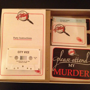 Vintage City Vice Crime Solver Party Game 1985