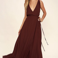 Strictly Ballroom Burgundy Maxi Dress
