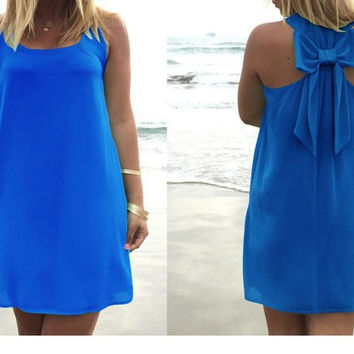 Chiffon women summer dress 2017 hot summer style plus size women clothing beach dress