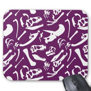 Dinosaur Bones (Purple) Mouse Pad