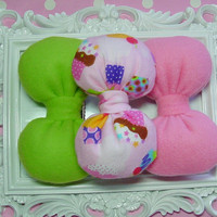 Birthday Party Gift Set Bows Party favor Bows Mini Small Bow Hair Clips Bubblegum Pink Sugar green cupcake novelty big sis little sister bff
