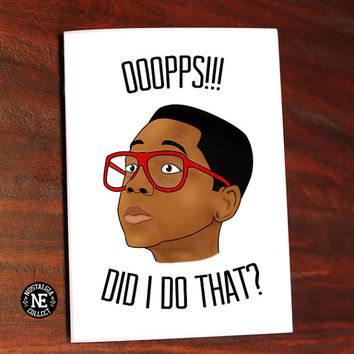 Oops! Did I Do That? - Sorry Forgiveness Card 5 X 7 Inches