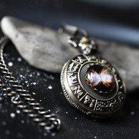 Space Galaxy Pocket Watch - Astrology Watch with Planet, Nebula, Star, Moon