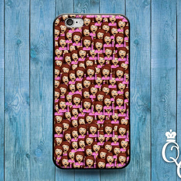 iPhone 4 4s 5 5s 5c 6 6s plus iPod Touch 4th 5th 6th Generation Cute Drama Girl Woman Hand Emoji Custom Funny Collage Cover Cute Phone Case
