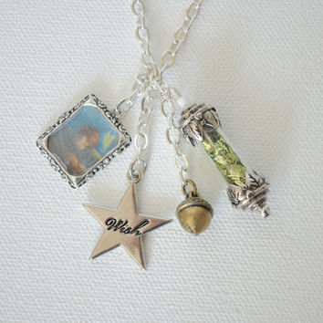 Peter Pan Charm Necklace by JillDianeDesigns on Etsy