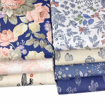 Floral 100% Twill Cotton Fabric for Patchwork Quilts Cushions Patchwork Telas Sewing Tissue DIY Crafts Tilda Cloth 40x50cm 7Pcs