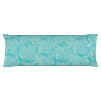 Turquoise Spirals Body Pillow