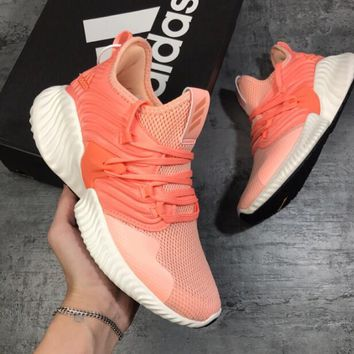 Adidas AlphaBounce Fashion Women Casual Net Surface Breathable Sport Running Shoe Sneakers Orange/Pink I-A50-XYZ