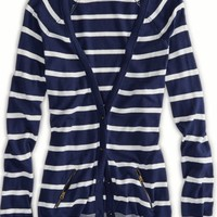 AEO Women's Striped Boyfriend Cardigan