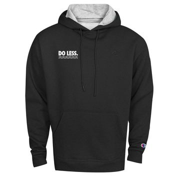 The 'Waves Do Less' Champion Hoodie in Black