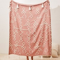 Geo Tufted Tassel Throw Blanket | Urban Outfitters