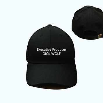 Executive Producer DICK WOLF Hat Black Pink White - Baseball Cap , Dad Hat, Low-Profile Adjustable Strap Back Baseball Cap dad cap