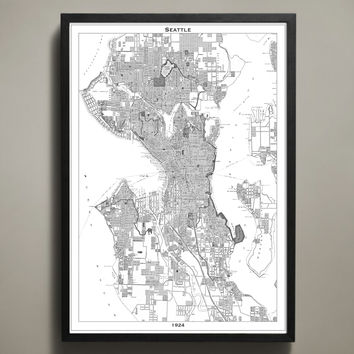Map Print, SEATTLE