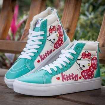 DCCKBWS VANS X Hello Kitty SK8-Hi Flats Ankle Boots Sneakers Sport Shoes