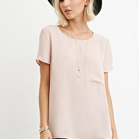 Pocket Chiffon Top