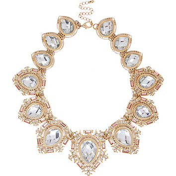 River Island Womens Gold tone crystal repeater statement necklace