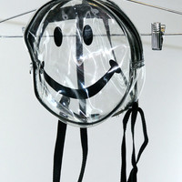 AMAZING 90s Clear Smiley Face Mini PVC Backpack