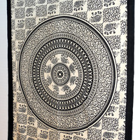 Indian Bed spread Hippie Mandala Tapestry Wall Hanging, Tapestry, Mandala Wall Art Mandala Wall Hanging Indian Tapestries G 06
