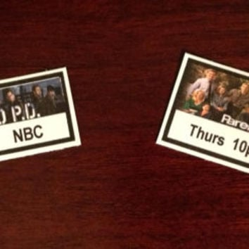 20 Pre-cut Custom Any TV Show Planner Stickers - Multiple Options  Great planner or scrapbook accessories!