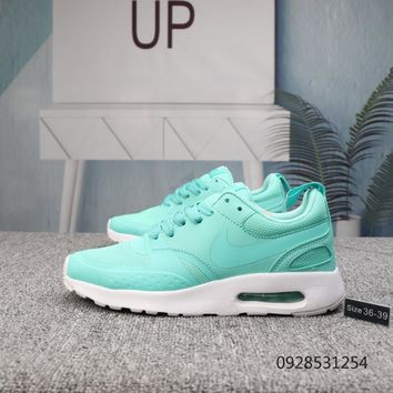 KUYOU N650 Nike Air Max Vision SE 87 Knit Breathable Comfortable Running Shoes Mint Green