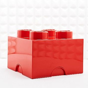 LEGO 4 Brick Storage Box in Red - Urban Outfitters