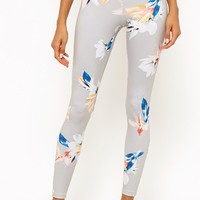 Active Tropical Floral Print Leggings