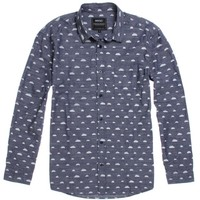 WeSC Brokeback Long Sleeve Woven Shirt - Mens Shirts - Blue