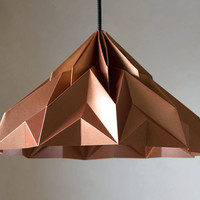 MAKE A WISH origami lampshade pendant satincopper by werkdepot