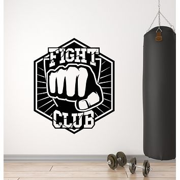 Vinyl Wall Decal Fight Club Sparring Fighter Boxer Martial Arts Sports Stickers Mural (g1306)
