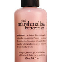 Philosophy Pink Marshmallow Buttercream Shampoo, Shower Gel & Bubble Bath (120ml)