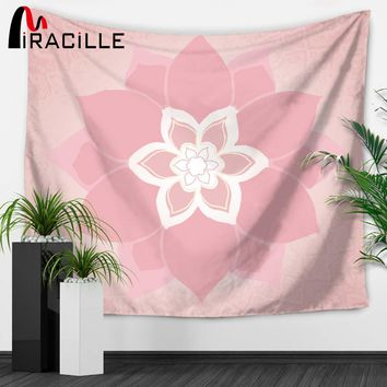 Miracille Mandala Flowers Indian Tapestries Summer Hippie Tapestry Wall Hanging Art Table Cloths Bohemian Decor for Living Room