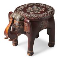 Botswana Traditional Round Accent Table Assorted