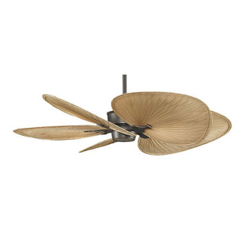 Fanimation BKIT-MAD3250BA-ISP1 Islander Bronze Accent 52-Inch Ceiling Fan with Wide Oval Palm Blades