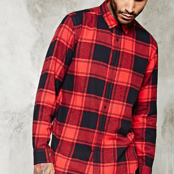 Slim-Fit Cotton Flannel Shirt