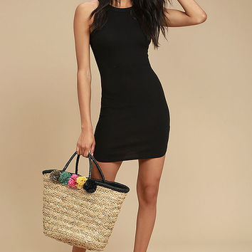 Simply Speechless Black Bodycon Dress