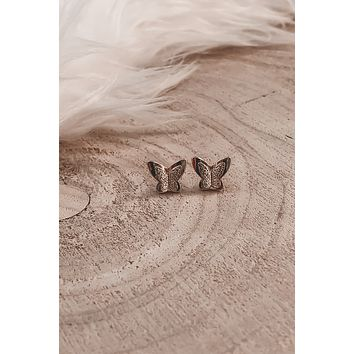 Small But Mighty Gold Butterfly Earrings