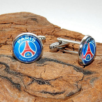 Paris Saint-Germain Football Club, Paris SG cufflinks, Paris SG simbol Football team, PSG fc football teams, psg patch, psg logo earrings
