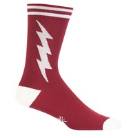 Crimson And White Super Hero Socks