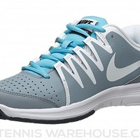 Nike Vapor Court Grey/Blue/White Women's Shoe