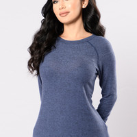 Cozie Times Top - Navy