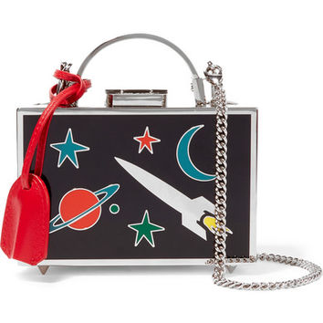 Mark Cross - Grace mini metal and enamel shoulder bag