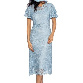 Formal Short Plus Size Mother of the Bride Church Dress