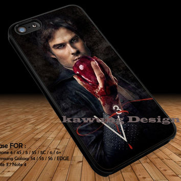 Damon Salvatore Vampire Diaries Season 3 iPhone 6s 6 6s+ 5c 5s Cases Samsung Galaxy s5 s6 Edge+ NOTE 5 4 3 #movie #TheVampireDiaries DOP263