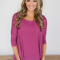 Your Everyday Casual Piko Top - Mulberry