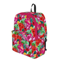 Tropical Summer Flowers and Fruit Pattern Backpack