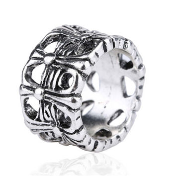 New Hot Vintage Retro Handmade Womens Mens Vampire Cross Old Silver Ring Womens Ring Lady Fashion Casual Jewelry Unique Best Gift Fashion Accessories Drop Shipping Girl Rings-51