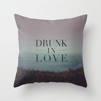 Beyoncé: Drunk in Love Throw Pillow by Leah Flores